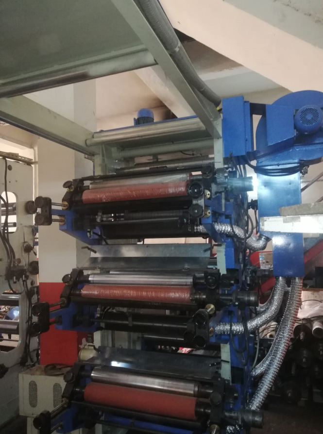 6 Colours and 800 mm width Flexo Printing Machine