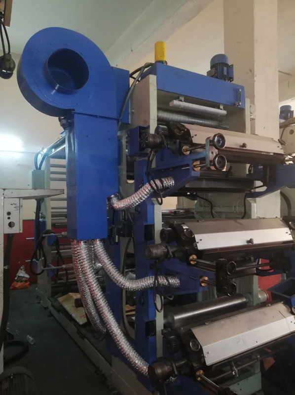 80 cm width and 6 colours, Remak Brand, Stack Type Flexo Printing Machine